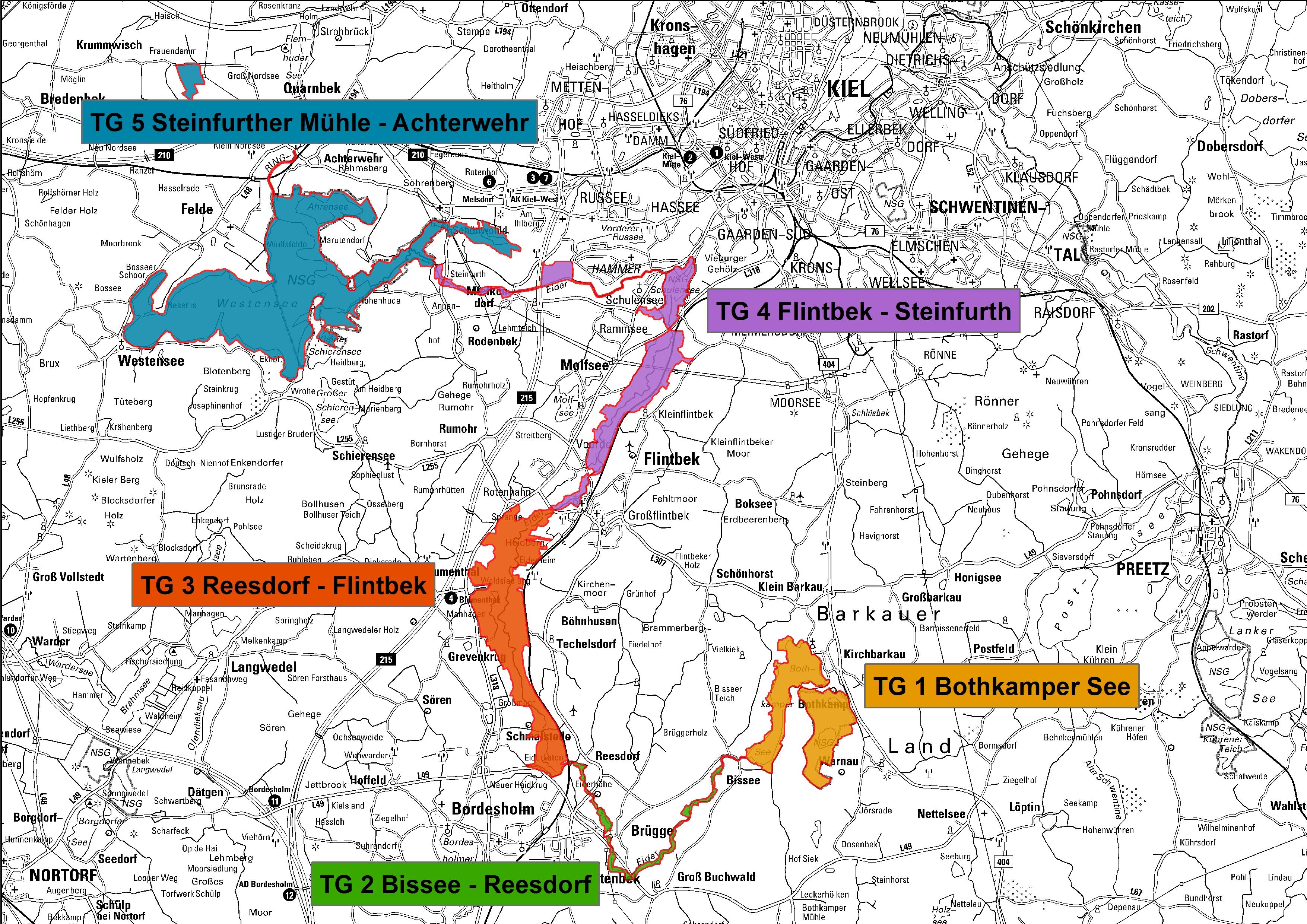 Natura 2000 Managementplane Naturpark Westensee Obere Eider E V